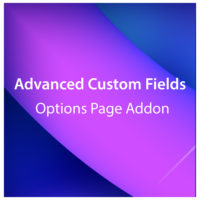 Advanced Custom Fields Options Page Addon 2.1.0